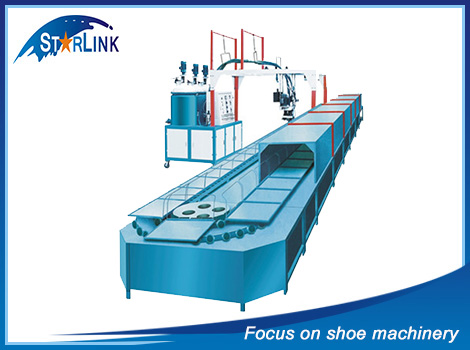 PU pouring shoe sole moulding machine
