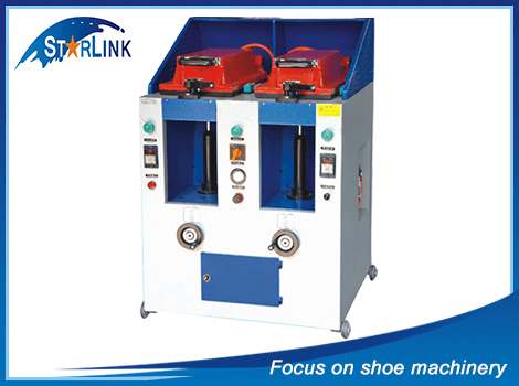 Double Unit Automatic Cover Type Sole Attaching Machine