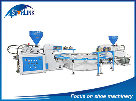 Double Color PVC/TPR Sole Injection Machine, SLM-6-04