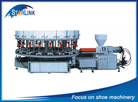 Full Automatic Rotary Type PVC TPR Shoe Injection Molding Machine, SLM-6-02