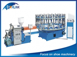 PVC TPR Rotary Type Shoe Injection Molding Machine, SLM-6-01