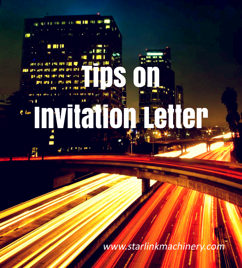 tips oninvitation letter
