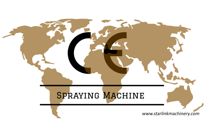 CE of spraying machine