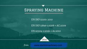 ISO of spraying machine