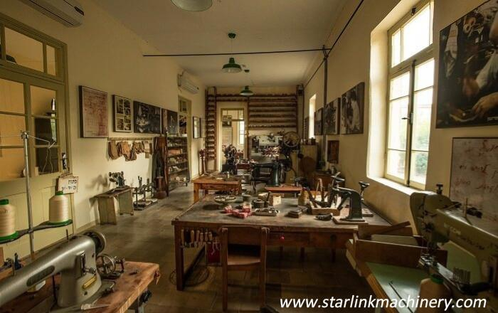 Shoe making machines, past and present